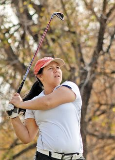 Annie Twells of Fargo North was the medalist at the Class A girls state golf tournament on Tuesday, October 2, 2012.