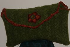 Densely felted Fall Color Clutch hand Sewn by mcleodhandcraftgifts,