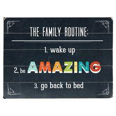 Family Routine famili routin