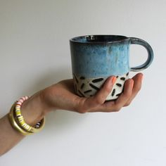 Black and Blue Mark Mug