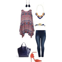 Going somewhere- plus size, created by gchamama on Polyvore