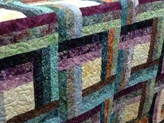 Quilted Batik Lap Quilt