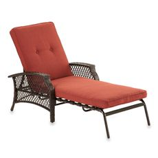 Wicker Deep Seating Chaise Lounge Chair with Cinnamon Cushion - Bed Bath & Beyond