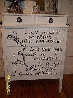 Anne of Green Gables Quote Dresser