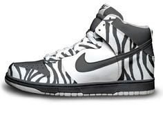 zebra print high top nikes
