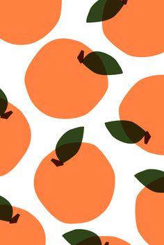Fruity | Patterns  Prints  #orange #pretachanger