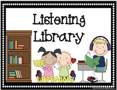 Mrs. Lirette's Learning Detectives: Listening Resources {Free Listening Library Sign}