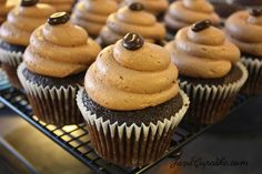 For the coffee lovers! Rich mocha cupcakes topped with mocha buttercream.