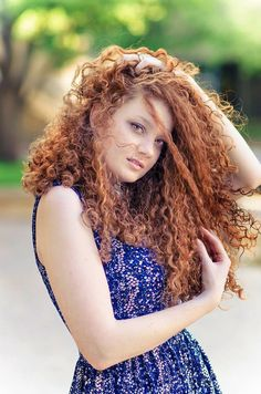 Natural Red curly hair curly hair