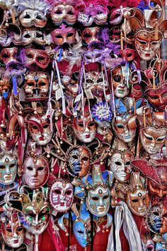 Maschere - Masks by Carlo Tardani, Veneto, Italy.