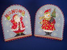 Arched Santa Easel Backs  Melissa Shirley canvases