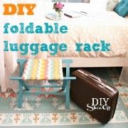 Diy luggage rack