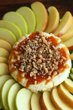 Caramel Cheesecake Apple Dip - unlike those caramel apples we'd make as kids, you won't have any caramel stuck to your teeth!