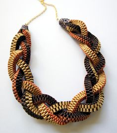 braided woven necklace