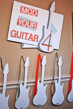 For kids activities at wedding to play with at reception Make your own guitar.      This would be perfect for us!