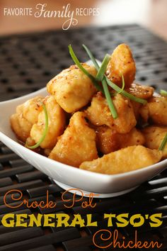 This Crock Pot General Tso's Chicken is so easy to make and your family will LOVE it! from favfamilyrecipes.com #crockpot #chinese