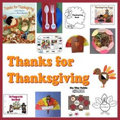 Thanks for Thanksgiving crafts, activities, games, emergent readers and printables for kindergarten and preschool.