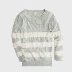 Factory sequin-stripe sweater | JCrew Factory