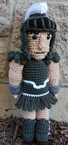 Roonie Ranching: Corey's Sparty Doll -- a free crochet amigurumi pattern -- Michigan State University Spartan mascot
