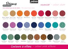 Pebeo Fantasy Prisme Colour Chart.