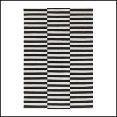 black and white graphic rug, Ikea