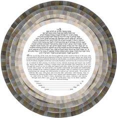 Love's Mosaic - Onyx and Pearl Ketubah