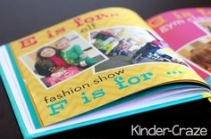 Kindergarten alphabet photo books created in Shutterfly. I love this idea and this blog post gives great suggestions for getting started!