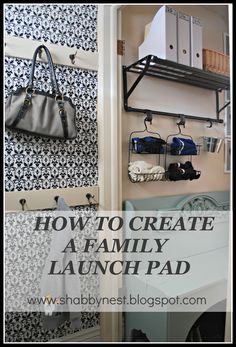 The Shabby Nest: How to Create a Family Launch Pad - A Morning Life Saver~