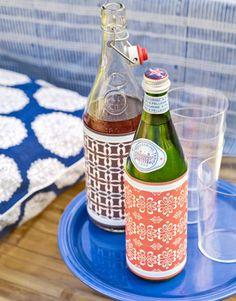 cute ideas for a bbq, summer dinner party or picnic soda bottles, jar, summer dinners, summer parties, dinner parties, minut flat, dress up, wallpapers, parti idea