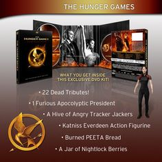 Hunger Games Exclusive DVD kit! Lots of extras!