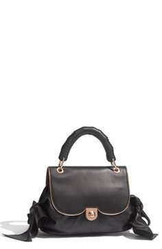 Z Spoke by #ZacPosen 'Zac Sac' Lambskin Leather black Satchel #nordstrom $525