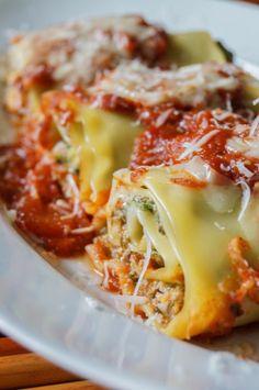 Mushroom kale lasagna rolls