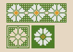 Free Cross Stitch Patterns by AlitaDesigns: Daisy