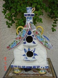 Adorable ceramic birdhouse