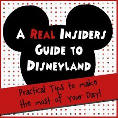 *Great* Disneyland tips!