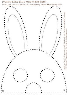 Printable Easter Bunny Masks.  cute activity!