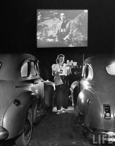 Drive in Theatre photo from Life magazine