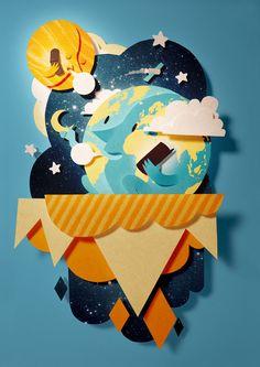 Nokia wallpaper by Bomboland , via Behance
