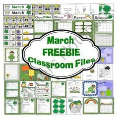 MARCH FREEBIE Classroom Files  product from RFTS Preschool on TeachersNotebook.com