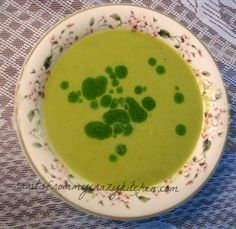 Asparagus Soup with a Dill Oil Drizzle