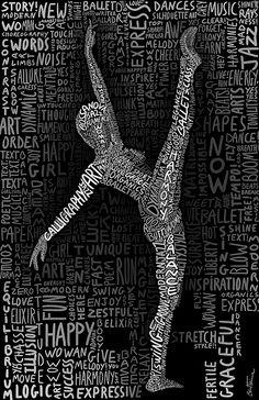 Typographic Art :: The Dancer - by Ben Heine