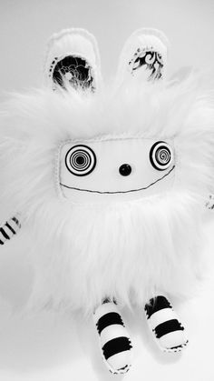 polkadottydoll - Bunny Rabbit Plush by Lynda Black / polkadottydolls rabbit plush, esti buysal, art dolls