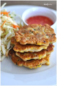 Spiced Sweet Corn Fritters