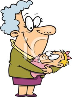 iCLIPART - Royalty Free Clipart Image of a Proud Grandma and a Baby