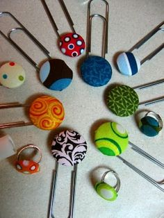 fabric covered buttons - my new favorite craft!