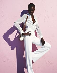 Sudanese supermodel Alek Wek featured in The Guardian's March...