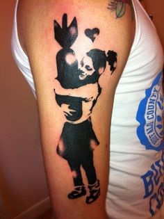 banksi tattoo, banksy tattoos, tattoo ink, art tattoos