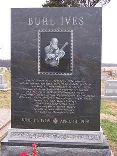 Burl Ives (Singer/Actor) headstone