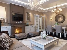 Stunning living room. Colors