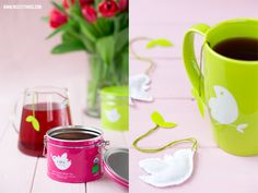 DIY Bird Shaped Tea Bags